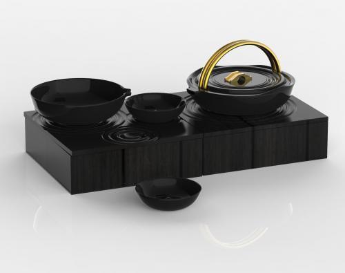 江南山水茶具设计